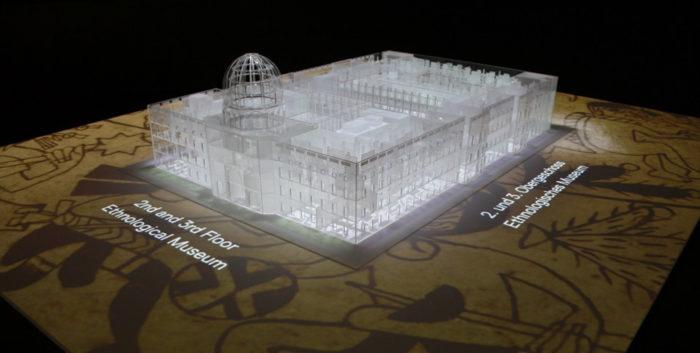 Gläsernes Modell des künftigen Humboldt Forums © SPK / Stefan Müchler